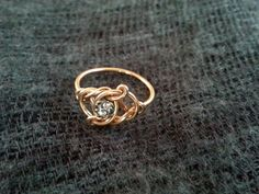 Antique 1910s Victorian Rose Gold Fill Lover's Knot Ring by shopFiligree, $198.00