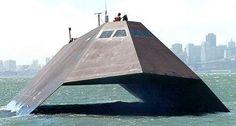 The Sea Shadow stealth ship