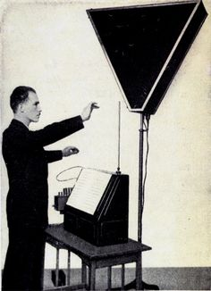 Léon Theremin and his instrument