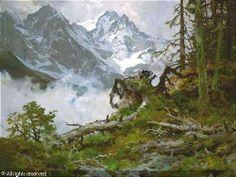 edward harrison compton paintings | COMPTON Edward Harrison,Riffelwund Zugspitze (oberhalb Eibsee),Nagel ...