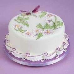 Uključeno u knjizi kolač ukrašen glazuru REAL Pretty Cakes, Cute Cakes, Beautiful Cakes, Cake Decorating Techniques, Cake Decorating Tips, Amazing Wedding Cakes, Amazing Cakes, Mini Cakes, Cupcake Cakes