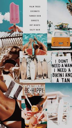 summer vibes aesthetic- collage wallpaper
