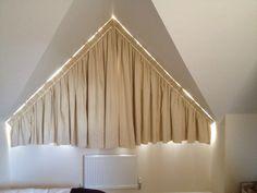 tolle ideen wie sie ihr dreiecksfenster verdunkeln gardinen und ideen. Black Bedroom Furniture Sets. Home Design Ideas