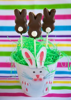 Bunny Peeps S'mores Pops | Plain Chicken