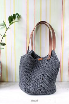 Items similar to Large Tote Bag, Big crochet bag, beach bag Crochet Handbags, Crochet Purses, Crochet Bags, Knitted Bags, Knit Crochet, Free Crochet Bag, Knit Bag, Large Bags, Large Tote
