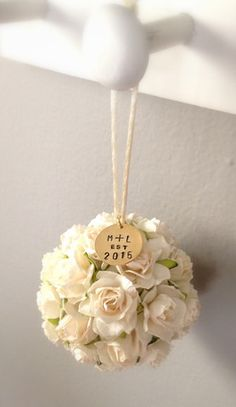 """Give the gift of a priceless keepsake!  Celebrate their """"First Married"""" Christmas with a personalized ornament by KVW.  A perfect winter wedding gift!"""