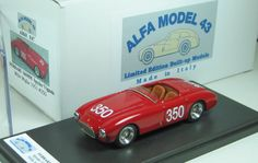 Ferrari 166MM Spyder Vignale Mille Miglia 1951 #350 Cacciari - Simon - Alfa Model 43