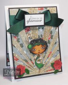 Jo Mckelvery - Verity Rose -Starlet Stamp and sentiment - Accessories stamp and dies - Embossing folder - Spectrum Sparkle pens - Collall glues - Verity Rose paper pad - Matt Black card - Centura Pearl -  Sheena's White Stamping card -  Spectrum Noir pens: Skin - TN3, 4, 5, EB5, 6; Hair - IG5, 7, 9, 10, True Black; Eyes - EB5, 6; Green - JG2, 6,LG5; Gold - GB10, 11; Red - DR6, 7; Cream - BG4, 5, EB1, 2 - #crafterscompanion #spectrumnoir
