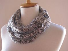 Knitted Scarf Necklace Rope Knit Scarf Warm and Soft by NORANA