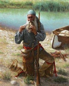 "Polubienia: 609, komentarze: 3 – Leif (@adirondackwildernessco) na Instagramie: ""Chauncey Homer Notice hes lighting his pips with the lens on his fire tin. #bushcraft…"" #bushcraftskillsnativeamerican"