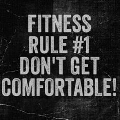 FITNESS RULE #1, DON