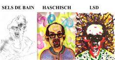 Cet homme a dessiné ces autoportraits originaux après avoir été sous l'emprise de 52 drogues Bryan Lewis Saunders est un artiste de Washington DC qui a