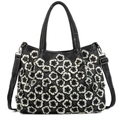 """YALUXE Women's Soft Lambskin Leather Multicolor Purse Crossbody Shoulder Bag Black 1. COLOR DISTRIBUTION IS RANDOM ON EVERY BAG EVERY TIME.------Lambskin Leather with detailed flowers in front,chic and stylish. Fully fabric-lined interior,tarnished color hardware and detailed contrast stitching brightens up the purse. The main compartment contains 2 open pockets for keys/smartphone/tissues and a big room for your I0"""" talet/magazine/wallet/sunglasses. Comes with a removable and adjustable..."""