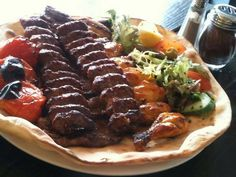 Ground meat called koobideh & chicken kebab Persian Style