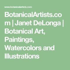 BotanicalArtists.com | Janet DeLonga | Botanical Art, Paintings, Watercolors and Illustrations