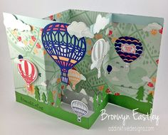 Lift Me Up Bundle, Carried Away DSP, Z-Fold Box Card, Bronwyn Eastley, Australia, Stampin' Up!, #addinktivedesigns