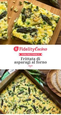 Frittata di asparagi al forno Going Vegetarian, Vegetarian Recipes, Healthy Recipes, Cooking Box, Cooking Recipes, Healthy Togo Lunches, Omelette, Veggie Side Dishes, Low Carb Diet