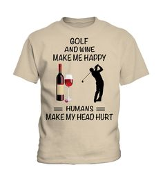 Humans make my head hurt - Golf2 (Kid T-Shirt - Sand) #golf #birthdaygifts #superbowl ladies golfing, golfing clubs, golfing cake, back to school, aesthetic wallpaper, y2k fashion
