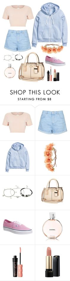 """Untitled #1"" by t-k-amie ❤ liked on Polyvore featuring River Island, Topshop, H&M, Charlotte Russe, Lipsy, Vans, Chanel, Benefit, Lancôme and women's clothing"