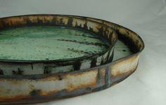 "17"" and 12"" platters - stoneware, cone 11 - olia lamar"