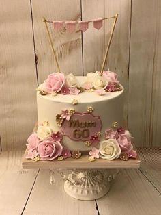 60th Birthday Cake Geburtstagstorte Torte Zum 60 Geburtstag Geburtstag Kuchen Dekorieren