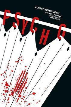 Psycho Poster. Hitchcock. Corina Lupu