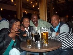 Chilling out with some drinks while getting taken away with Philani Ngidi and The Quiet Storm