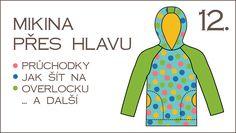 Škola šití: 12. díl – šití na overlocku, průchodky, mikina klokanka – Caramilla.cz Apron, Sewing, Dresses, Vestidos, Dressmaking, Couture, Stitching, Dress, Sew