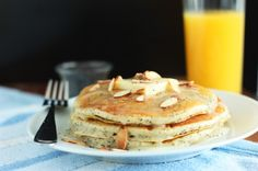 Almond Poppy Seed Pancakes with Almond Syrup
