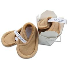 Fortune Cookie Baby Booties  Personalized Gifts by sushibooties, $28.00