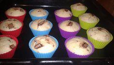 Čokoládovo - banánové muffiny. Autor receptu: Smiley