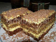 Kakaowo - orzechowe z masą krówkową Polish Desserts, Polish Recipes, Polish Food, Sweet Recipes, Cake Recipes, Dessert Recipes, Different Cakes, Food Cakes, Savoury Cake