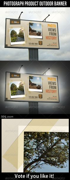 Photograph Product Outdoor Billboard Banner Template PSD. Download here: http://graphicriver.net/item/photograph-product-outdoor-banner/5530475?s_rank=308&ref=yinkira