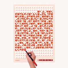 Life Calendar: Love Life, Day by Day by Brigada Creativa, via Behance