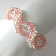 Peyote bracelet...Pearl Blush. $84.00, via Etsy.