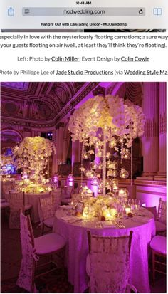 tall florals with hanging glass globes