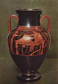 The Andokides painter was an ancient Athenian vase painter who was active from 530 to approximately 515 BCE. His work is unsigned; he is named after Andokides, the potter for whom he worked. He is believed to be the inventor of the red figure style of vase painting.