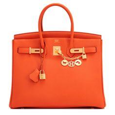 ca29146961c  Hermes  Birkin  Bag Orange Togo Gold Hardware Hermes Orange, Orange Purse,
