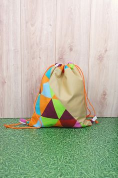 Colorful Canvas Drawstring Backpack http://etsy.me/2DtQbHl #airyfairybags, ##bagsandpurses, #backpacks, #beige, #easter, #drawstringbackpack, #canvasbackpack, #lightweightbackpack, #workoutbag, #festival, #etsy, #teensbag, #lifestyle, #adorable