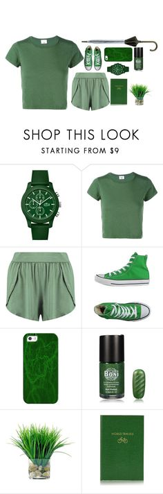 """Untitled #38"" by barboratosilova on Polyvore featuring Lacoste, RE/DONE, Boohoo, Converse, Casetify, Sloane Stationery and Hunter"