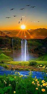 Beautiful sunset landscape more at @ Beautiful Nature Pictures, Beautiful Nature Wallpaper, Amazing Nature, Nature Photos, Beautiful Landscapes, Beautiful World, Beautiful Nature Scenes, Nature Artwork, Beautiful Scenery