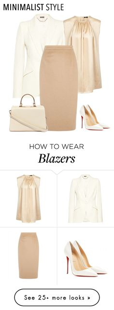 """outfit 2778"" by natalyag on Polyvore featuring moda, Alexander McQueen, Joseph, Jaeger, Christian Louboutin y Nila Anthony"