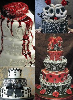 Fall Season Wedding Ideas: Dark Romance Inspired - gothic wedding cake