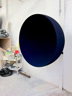 anish kapoor's studio - this piece draws one into an expansive universe