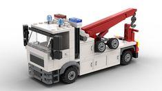 Lego Technic Truck, Lego Truck, Tow Truck, Lego Construction, Bday Cards, Trucks, Garage, Lamborghini Huracan, Lego Moc