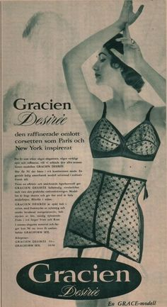 vintage girdle and bra