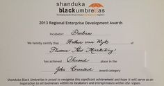 And last night we were rewarded by Shanduka Black Umbrellas with an award for Job Creation. The agency took second place. Enterprise Development, Black Umbrella, Logo Design, Graphic Design, The Agency, Umbrellas, Digital Marketing, February