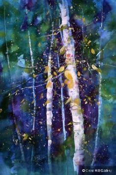 by Jeanne Carbonetti-tree art  ...  Vermont watercolor artist