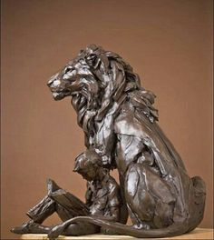 Lion statue by bart walter