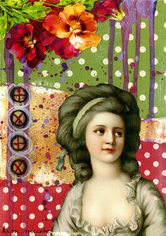 """Rococo Collage by kim neumann. Not generally going out there and saying """" I love Rococo!"""" But this appeals to me."""